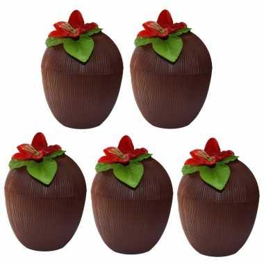5x hawaii bekers kokosnoot 250 ml prijs