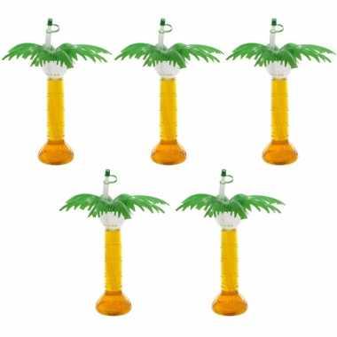 5x hawaii drinkbeker palmboom 500 ml prijs