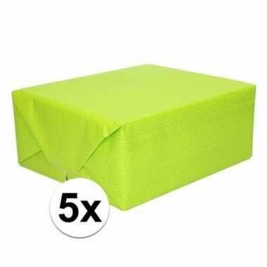5x kaftpapier lime groen 70 x 200 cm kraftpapier prijs