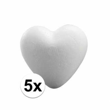 5x knutsel hartjes piepschuim 5 cm prijs