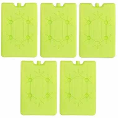 5x koelblokken fel groen 200 ml prijs