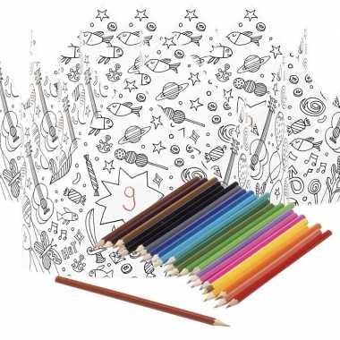 5x kroontjes om in te kleuren met potloden voor kinderen prijs