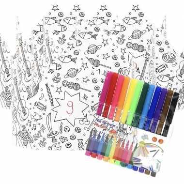 5x kroontjes om in te kleuren met stiften voor kinderen prijs