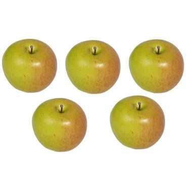 5x kunst fruit appels 8 cm prijs