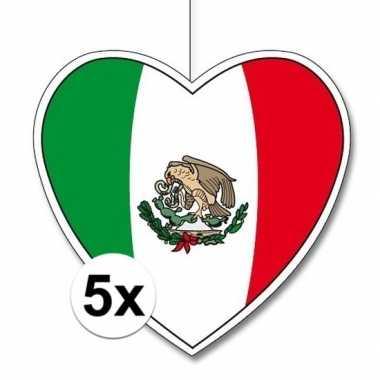 5x mexico hangdecoratie harten 28 cm prijs