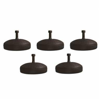 5x parasolstandaard zwart rond platic prijs