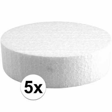 5x piepschuimen taart schijven 15 cm prijs