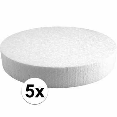 5x piepschuimen taart schijven 25 cm prijs