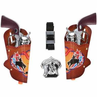 6 delige cowboy verkleedset. revolvers prijs