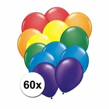 60 stuks regenboog ballonnen prijs