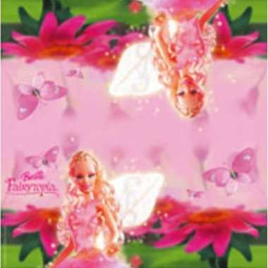 60x barbie feest servetten fairytopia/roze 33 x 33 cm kinderverjaarda