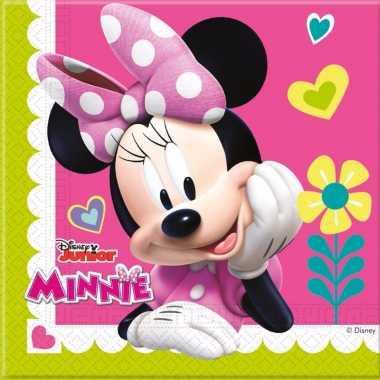 60x minnie mouse feest servetten 33 x 33 cm kinderverjaardag prijs