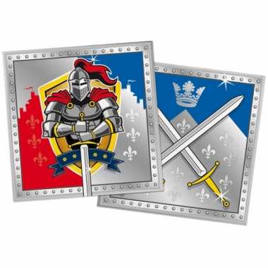 60x ridder feest servetten 33 x 33 cm kinderverjaardag prijs