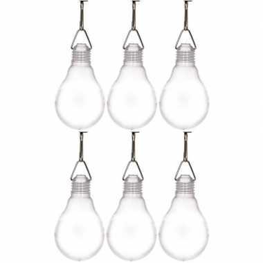 6x buiten verlichting solar lampjes wit 11,8 cm prijs