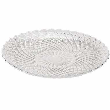 6x dessertbordjes glas 15 cm prijs