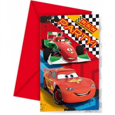6x disney cars uitnodigingen kinderverjaardag prijs