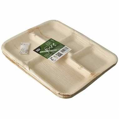 6x palmblad borden met vakken 27 cm prijs