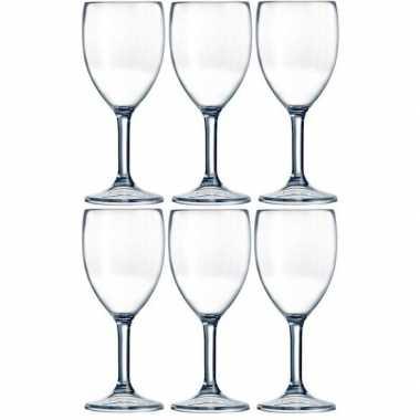 6x picknick wijnglazen kunststof 300 ml prijs