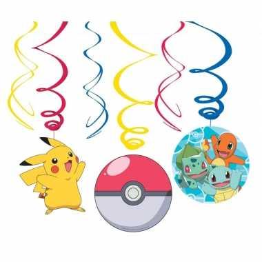 6x pokemon feest hangdecoratie rotorspiralen prijs