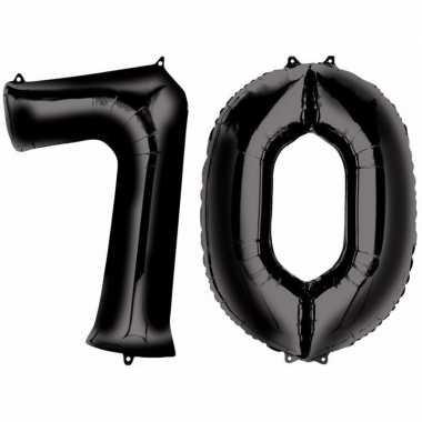 70 jaar leeftijd helium/folie ballonnen zwart feestversiering prijs