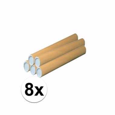 8 knutsel kokers van karton 43x6 cm prijs