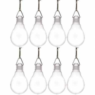 8x buiten verlichting solar lampjes wit 11,8 cm prijs