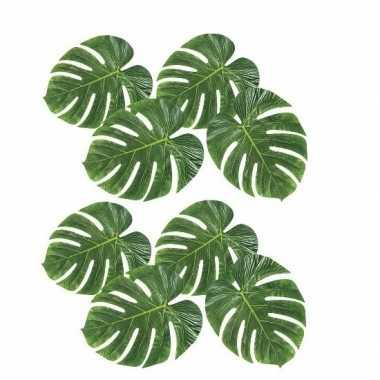 8x decoratie palmbladeren prijs