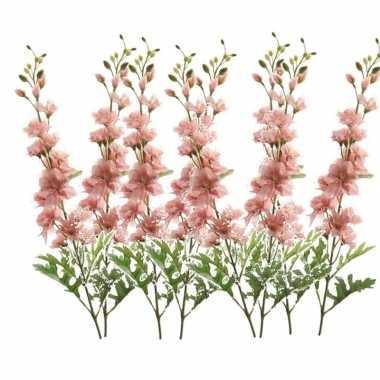 8x delphinium kunst tak 70 cm roze prijs