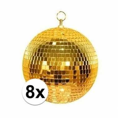 8x gouden discobal 30 cm prijs