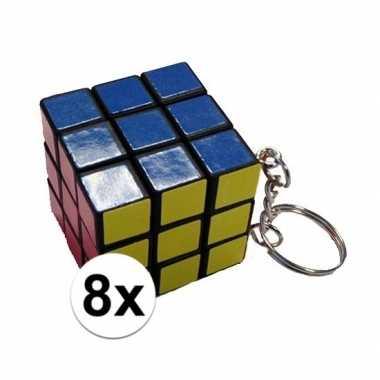 8x kubus puzzels sleutelhangers prijs