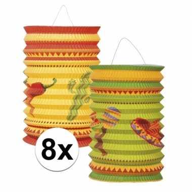 8x mexicaanse thema lampionnetjes prijs