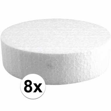 8x piepschuimen taart schijven 15 cm prijs