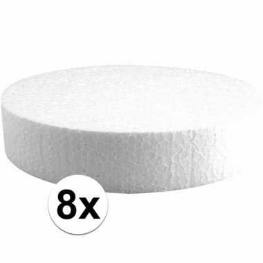 8x piepschuimen taart schijven 20 cm prijs