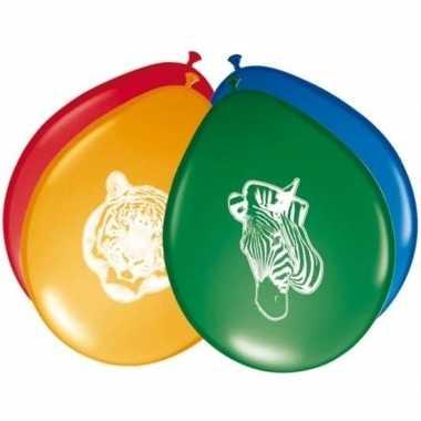8x safari/jungle feest ballonnetjes 27 cm prijs
