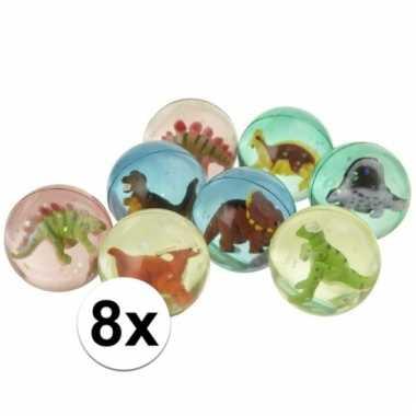 Vergelijk 8x stuiterbal met dinosaurus prijs