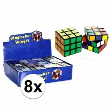 8x uitdeel speelgoed puzzel kubussen 7 cm prijs