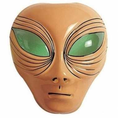 Alien gezichtsmasker bruin voor volwassenen prijs