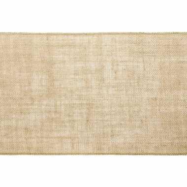 Antiek thema versiering jute tafelloper/placemats 28 x 500 cm prijs