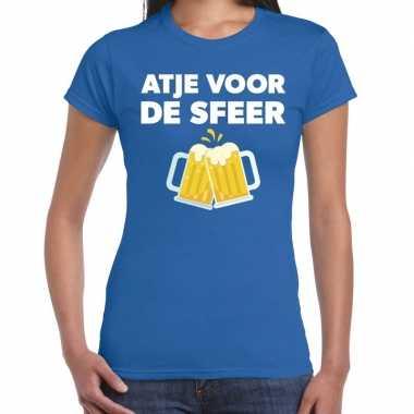 Atje voor de sfeer fun t-shirt blauw voor dames prijs