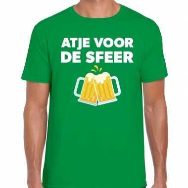Atje voor de sfeer fun t-shirt groen voor heren prijs