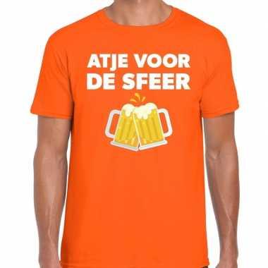 Atje voor de sfeer fun t-shirt oranje voor heren prijs