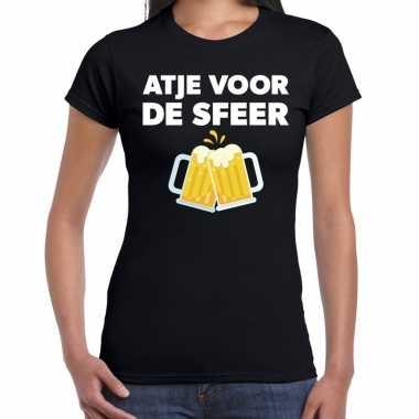 Atje voor de sfeer fun t-shirt zwart voor dames prijs