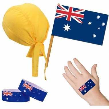 Australische fan/supporter verkleed set voor volwassenen prijs