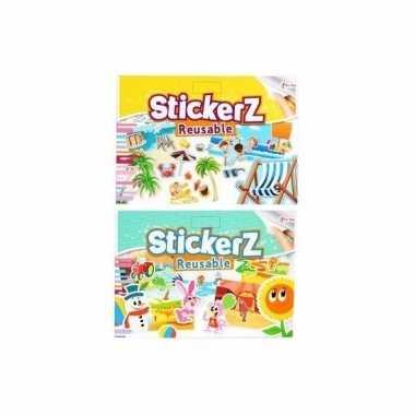 Auto stickers set strand/dieren thema 10 vellen prijs