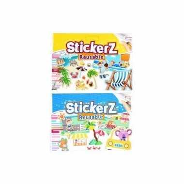 Auto stickers set vakantie thema 10 vellen prijs