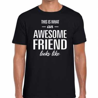 Awesome friend kado t-shirt zwart voor heren prijs