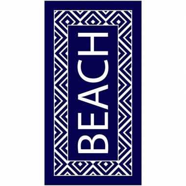 Badlaken beach met zigzag print voor volwassenen 90 x 170 prijs