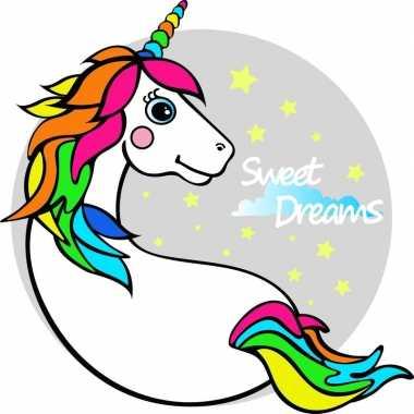 Badlaken eenhoorn/unicorn licorne voor volwassenen 150 x 150 prijs