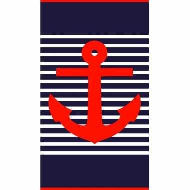 Badlaken maritiem print douglas voor volwassenen 95/100 x 175 prijs