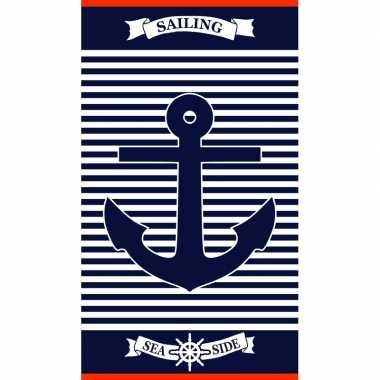 Badlaken maritiem print vancouver voor volwassenen 95/100 x 175 prijs